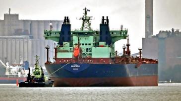 Arctian Kontio öljyntorjuntaharjoituksessa.