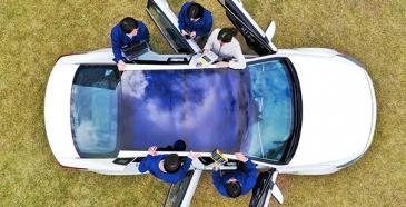 Aurinkoenergia tulee autoihin jo 2020