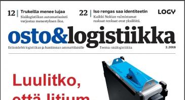 Osto&Logistiikka 2/2018 on ilmestynyt