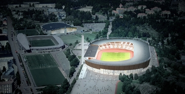 Remontti vihertää Olympiastadionia