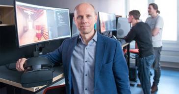 Turun AMK:n Tulevaisuuden interaktiiviset teknologiat -tutkimusryhmää johtaa Mika Luimula.