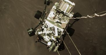 Perseverancen monet kamerat tallensivat luotaimen laskeutumisen Marsiin. Mars-mönkijä sisältää myös suomalaisia mittauslaitteita.