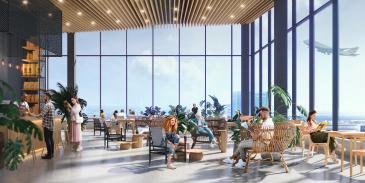 Uudistuvan Helsinki-Vantaan lentoaseman sydämeen valmistuva 13-kerroksinen kokonaisuus on Suomen suurin hotellihanke.