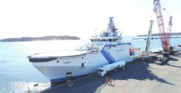 Gasum ja Rajavartiolaitos varmistavat testitoimitusten avulla biokaasun toimivuuden aluspolttoaineena sekä logistiikassa että käytännössä ulkovartioaluksella.
