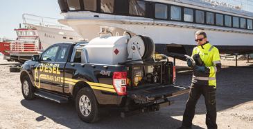 Dieselbar nujertaa dieselbakteerin ympäristöä kunnioittaen