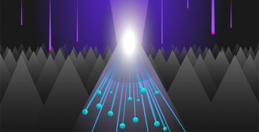 Elektronit monistuvat vauhdilla UV-valon törmätessä nanorakenteeseen.