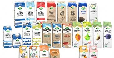 Arlan maitotuotteet biopohjaisiin pakkauksiin