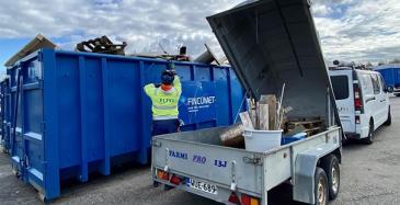 Fincumet kierrättää Eltelin materiaalit