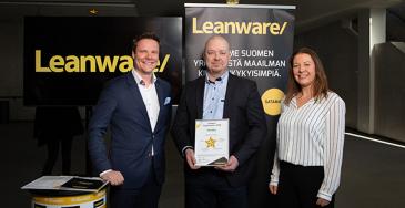 Fysiolinelle Leanwaren Huippuvarasto 2020 -palkinto