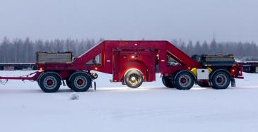 Mittausta mittausperävaunulla Ivalossa maaliskuussa 2020.