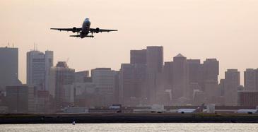 Koneelle tilaus Bostonin lentokentälle