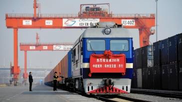 Junarahti Euroopan ja Kiinan välillä kasvaa vauhdilla