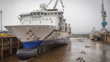 Rauma Marinen ensimmäinen laiva vesille