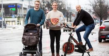 Kuvassa neljästä verkkokauppa Preecon Oy:n omistaja-yrittäjästä kolme: Juha-Matti Raappana, Henrik Viitala ja Jani Laitinen.