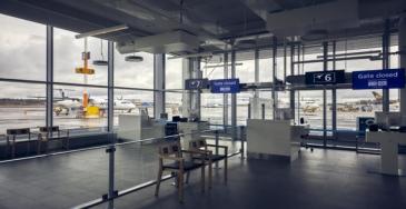 Schengen-terminaalin laajennus valmistui