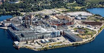 SCA Ortvikenin tehdas Sundsvallissa, Ruotsissa.